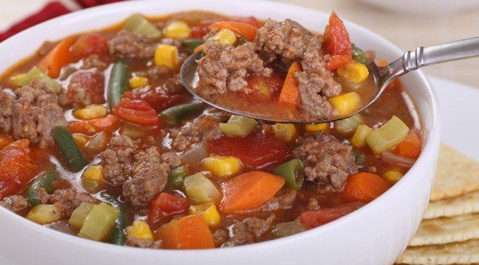 Hearty Hamburger Soup Recipe