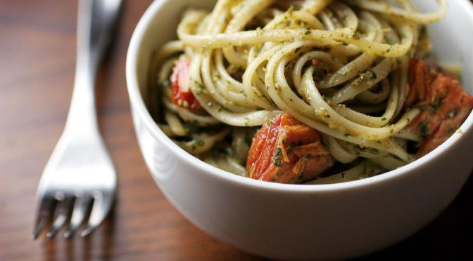 Pesto Pasta With Salmon
